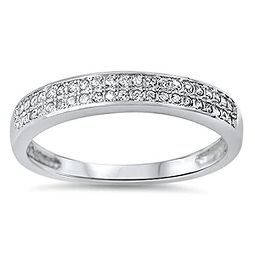 Anillo de compromiso de plata de ley 925 con diamante de corte redondo de 0,30 quilates, chapado en oro blanco de 14 quilates