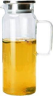sahadsbv Pichet à thé glacé Bouteille d'eau Froide Pichet à Eau en Verre Transparent Bouilloire à Boissons Pichet à thé Pi...