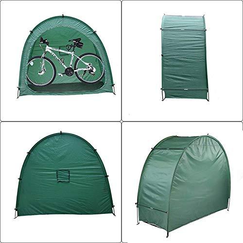 Kacsoo Tienda de campaña para bicicletas, cobertizo de almacenamiento de bicicletas con bolsa de transporte, cubierta de bicicleta a prueba de agua de 190T con ventana para acampar al aire libre