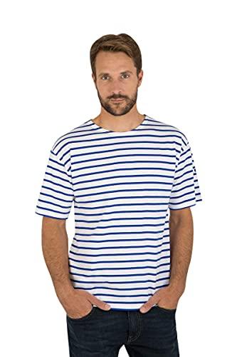 Armor Lux Herren Marinière Theviec Homme T-Shirt, Weiß (Dw5 Blanc/Etoile Dw5), X-Small (Herstellergröße: 1)