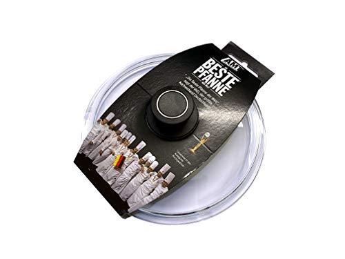 AMT Gastroguss Glasdeckel mit Deckelknopf und AMT-Original-Banderole, Ø 32 cm, passend für AMT Gastroguss Produkte (Bratpfannen, Schmorpfannen, Kochtöpfe etc.) Ø 32 cm, AMZN-032-Z1-L2