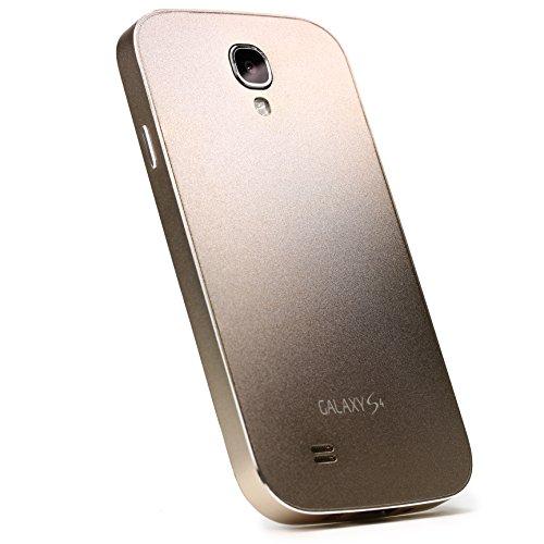 Urcover® Aluminium Hülle kompatibel mit Samsung Galaxy S4 Schutzhülle Alu Full Metal Cover Tasche Hülle Etui Handyhülle Champagner Gold