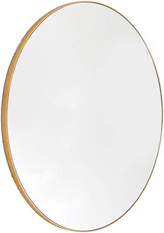 Nordic Wall-Mounted Bathroom Mirror Round gold Metal Hook Diameter 30 40 50 60 70cm Bathroom Living Room Bedroom Wall-Mounted Decorative Mirror