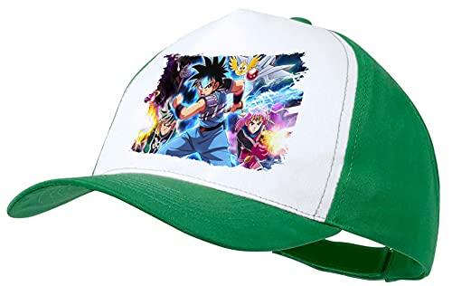 MERCHANDMANIA Gorra Verde Las Aventuras DE Fly Anime Color Cap