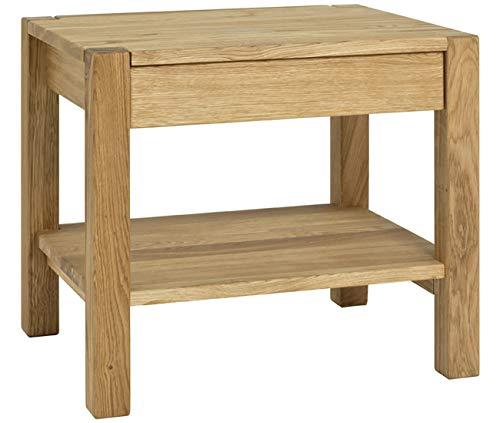 Haku Möbel Beistelltisch - Tisch - Massivholz Eiche geölt (Royal Oak) H 45 cm