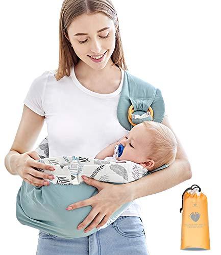 Azeekooom Babytrage Ergonomische, Stillschal Stilltuch Tragetuch mit Befestigungsgurt Big Pocket für Neugeborene bis Kleinkinder von 0-36 Monaten