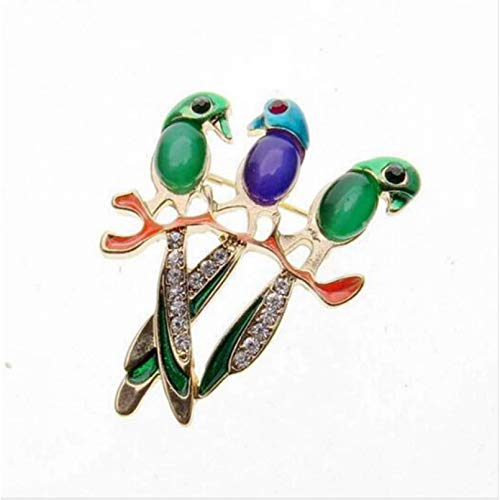 YXFYXF Brooch New Vivid Cute Bird Brooch Pin Crystal Rhinestone Enamel Animal Bird Brooches Women Accessory Fashion Jewelry (Color : Cc)