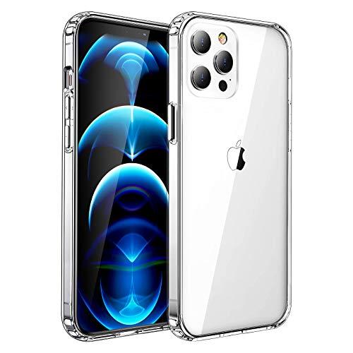 iPhone12 Pro Max ケース 超クリア 透明カバー 黄変防止 衝撃吸収 薄型 滑り止め フィット感 全面保護 レン...