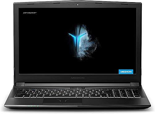 """Medion ERAZER P6605 - Portátil gaming 15.6"""" FullHD (Intel core i5-8300H, 16GB de RAM, 1.5TB HDD, GeForce GTX1050-4GB, Windows 10) - Teclado QWERTY Español"""