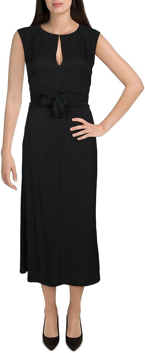 Theory Womens Silk V Neck Cocktail Dress