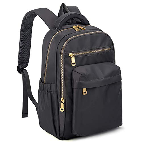 UTO Waterproof Laptop Backpack Nylon School Bag Travel Rucksack Fits 13 Inches Tablet Gold Zippers...