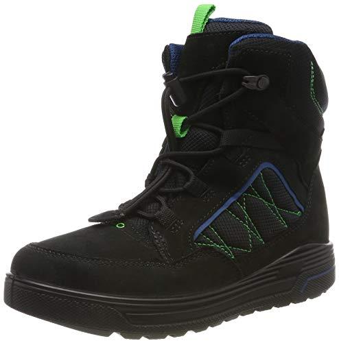 ECCO Jungen URBAN SNOWBOARDER Hohe Sneaker Mid-cut Boot, Schwarz (Black/Poseidon 59626), 38 EU