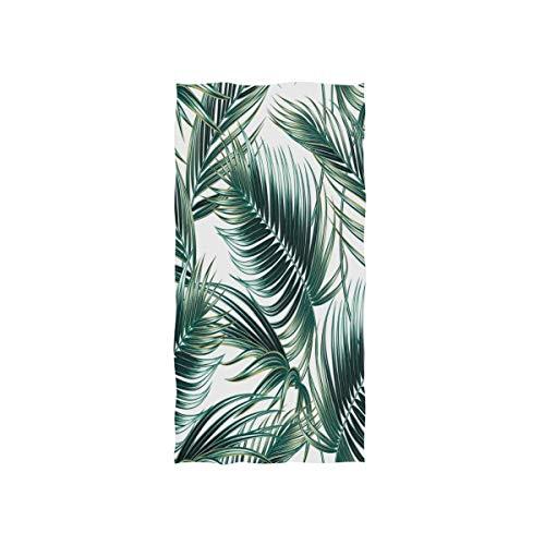 MNSRUU Handtuch mit tropischen Palmenblättern, weiches Badetuch für das Hotel, Spa, 76 x 38 cm
