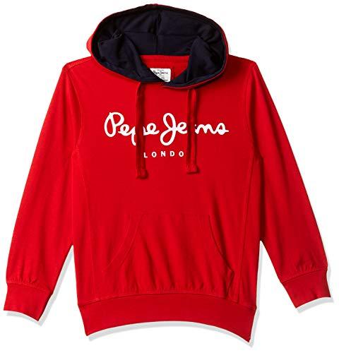 Pepe Jeans Boy's Cotton Sweatshirt (PIBT200015_Cla-Red_4)