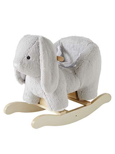 VERTBAUDET Conejo balancín para bebé, color gris claro/natural, talla única