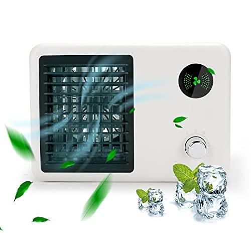 GUJIN Luftkühler Mini Klimageräte, 3 Geschwindigkeitsstufen Ventilator Mobile Klimaanlage mit 400ml Wassertankkapazität für Büro, zu Hause, Auto,Camping