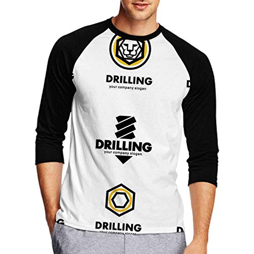 Set ofdesign Elements for The Tool,Men's Front Printed Middle Sleeve T-Shirt Drill bit L