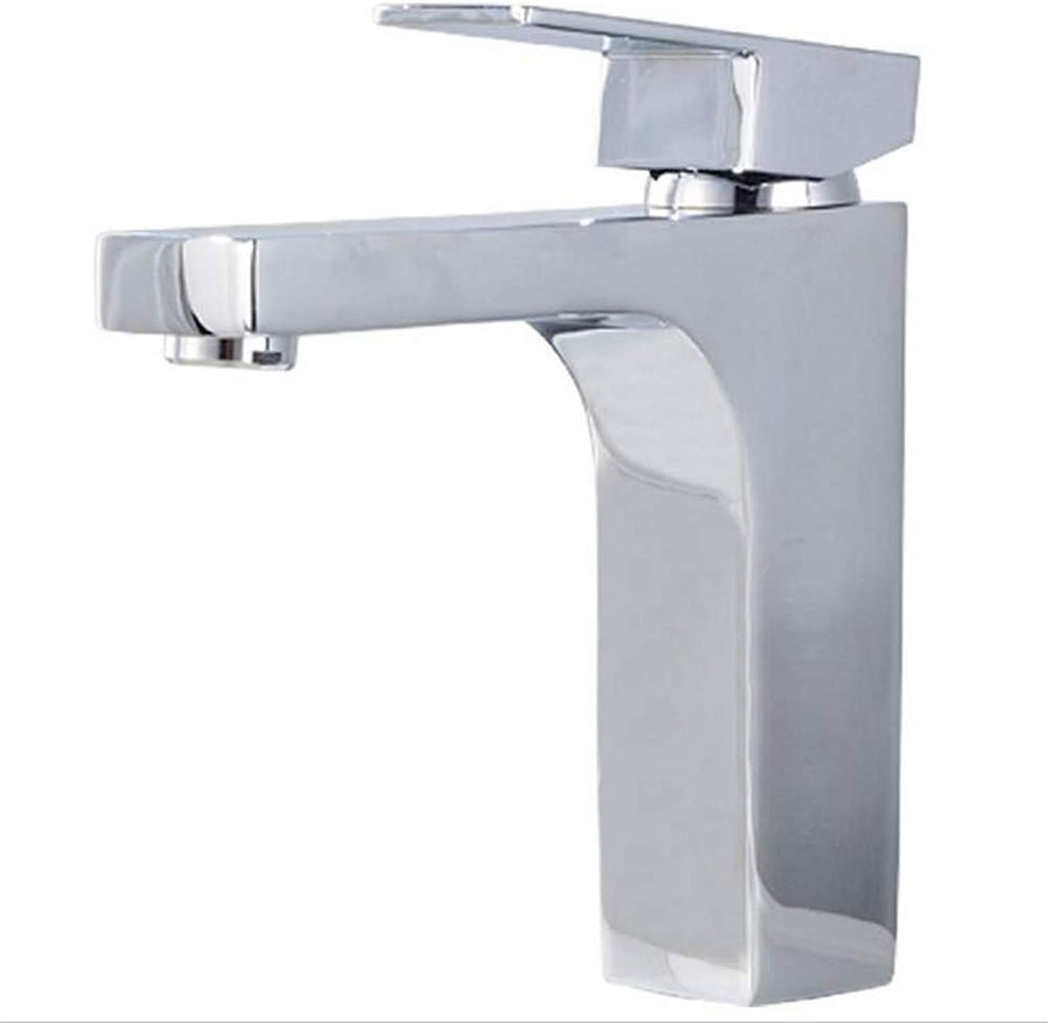 Basin Mixer Tap Copper Hot and Cold Basin Faucet Bathroom Toilet Square Faucet Sink Basin Mixing Water Valve