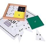 MIORIO Montessori 3D Puzzle Tablero de Madera Tangram Espesar la Forma de Madera Juego a Juego Juguete de Aprendizaje temprano de matemáticas para niños 3+ Regalo