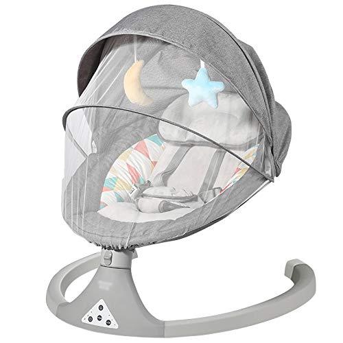LLZH Elektrischer Baby Schaukelstuhl, Kompakte Automatische Babyschaukel, 5 Geschwindigkeiten einstellbare...