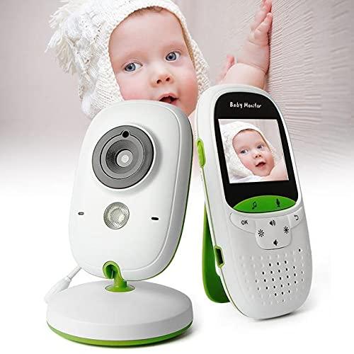 PetKids - Monitor de bebé con vídeo y vigilancia digital, función de visión nocturna, 2,4 GHz, inalámbrica, sensor de temperatura para niños, niñas y animales