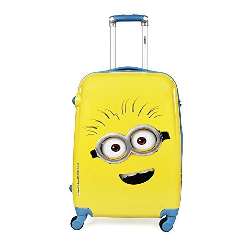 Priority Minion Phil 22 Inch / 56 cm Yellow Polycarbonate Kid's Hardcase Trolley Bag | Travel Luggage for Boys & Girls (24460)