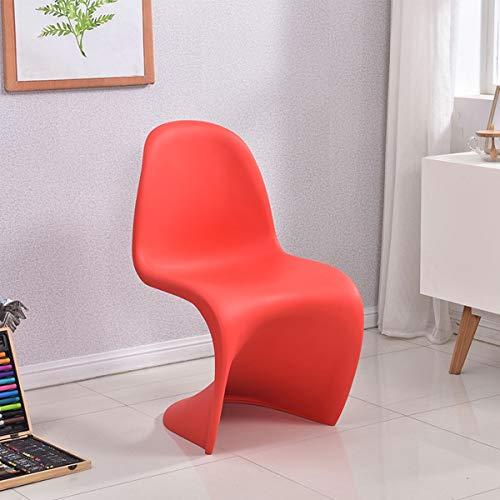 Haida Moderna Plastica Retro Pranzo Sedie da Ufficio Sala da Pranzo Cucina Camera, Cucina Sedie Soggiorno Poltrona, Nordic Style Schienale Lounge Chair Lounge Chair Hanging Chaise (Color : Red)