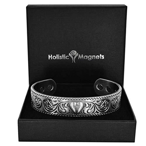 Holistic Magnets® Magnetarmband Damen Kupfer Armband (Anlauffarbenfrei) Geschenke für Frauen Handgelenk Gelenkheilung Magnetarmbänder +Geschenkbox–PH (M: Handgelenk 16,5-19,5cm)