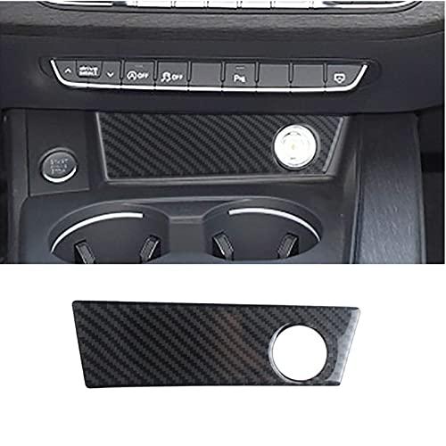 ADHUMER Fibra de carbono coche delantero encendedor panel decoración etiqueta para A4 B9 styling interior Accesorios