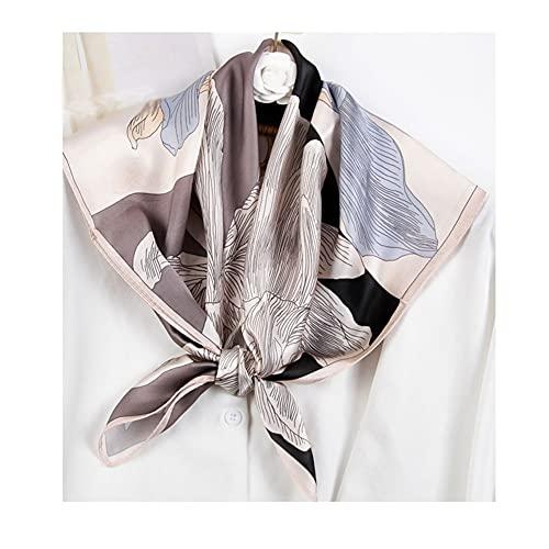 ZRJ Bufandas Bufanda de Moda para Mujeres, 27.5'Señoras satinadas de Seda Cuadrada como Bufandas de Cabello y Envoltura en la Cabeza del pañuelo para Dormir Fulares (Color : G)