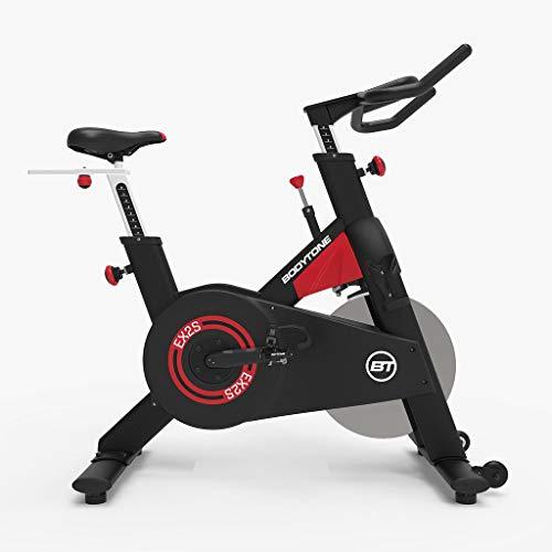 Bicicleta Ciclismo Indoor Bodytone EX2S - Volante de inercia delantero de 20 Kg - Transmisión Correa Poly - Pedales Mixtos - Ruedas de transporte ✅