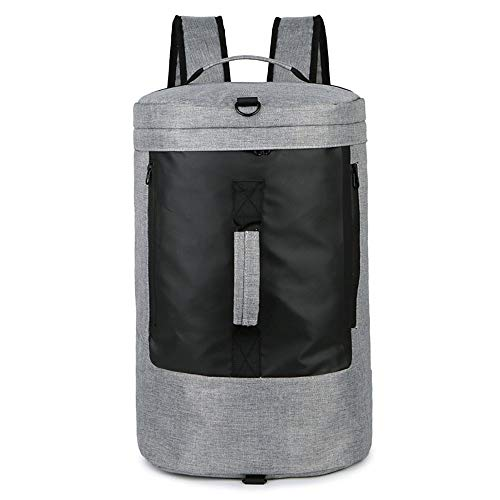 Molletons de Sport Sac Voyage Sac de Sport Sports de Plein air Yoga Fitness Bag Sac à bandoulière Voyage Sacs de Sport Grand Format (Color : Gray, Size : One Size)