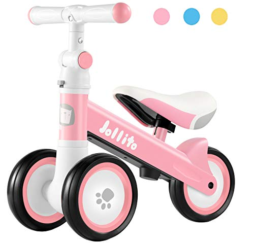 Adjustable Baby Balance Bike for 10-24 Months Girl, Adjustable Handlebars and Seats Toddler Baby Bike, Cute Safe Sturdy Baby Bicycle Riding Toys, Best First Birthday Gifts Pink