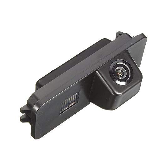 Farb Rückfahrkamera integriert in die Nummernschildbeleuchtung Kennzeichenbeleuchtung Kamera mit Distanzlinien für VW EOS, Golf V, Passat CC,Golf 6 MK6 Passat Tiguan Touareg Amarok/Robust Seat Altea