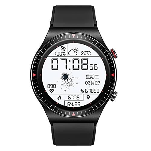 BNMY Smartwatch 1.28'Pantalla Táctil Rastreador De Ejercicios Reloj 4G RAM Grabación Llamada Música Asistente De Voz Astronauta Frecuencia Cardíaca Reloj Deportivo para Android E iOS,Negro