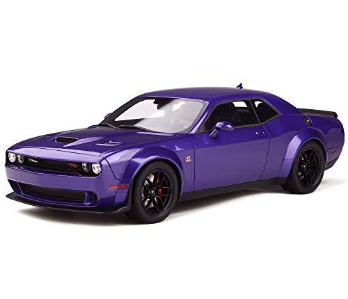 Dodge Challenger R/T Scat Pack Widebody Purple Plum Crazy 1/18 Model Car by GT Spirit GT248