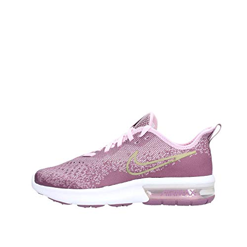 Nike Air Max Sequent 4 Running Shoe Violet Dust/Metallic Gold Star Size 5 M US