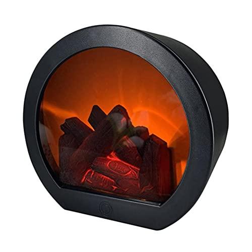 JTLB Chimenea de pared LED de imitación de llama, chimenea de mesa LED, simulación vintage, farolillo, efecto llama, luz para Navidad, adornos, decoración del hogar