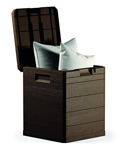 NATUUR Arcón Orden Exteriores Resina marrón 42.5x44x50 Cms 90 litros