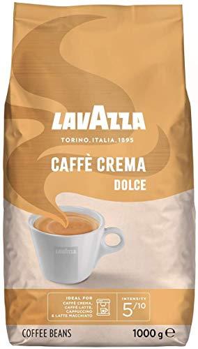 Lavazza Kaffee Caffè Crema Dolce, ganze Bohnen, Bohnenkaffee (4 x 1kg Packung)