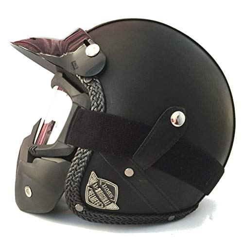 3/4 Offener Motorradhelm Vintage Retro Motorrad Cascos De Motociclistas Helme Offener Helm Jet