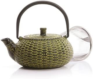 Japanese Tetsubin Green Cast Iron Teapot