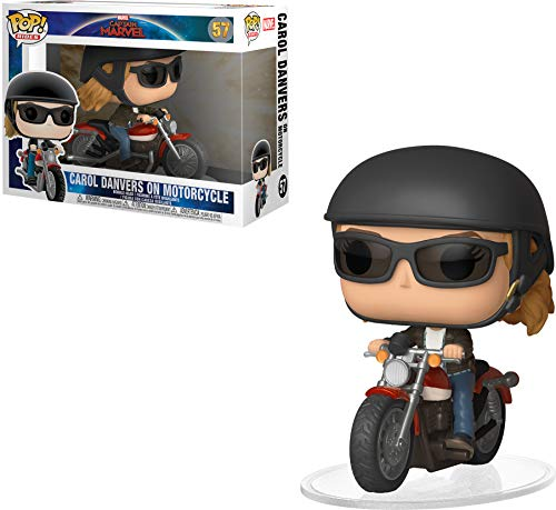 Funko 36418 POP! Ride Marvel: Captain MarvelCarol Danvers On Motorcycle, Multicolor