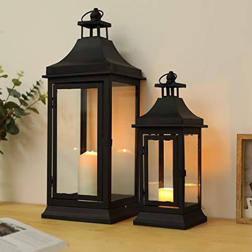 JHY Design Set di 2 lanterne per candele da esterni altezza 33cm e 49,5 cm a candela decorative...
