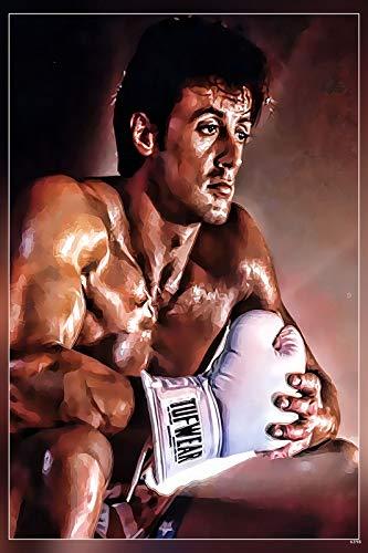 PosterHub Póster de Rocky Balboa/Sylvester Stallone con acabado mate en papel (multicolor) HS-6398