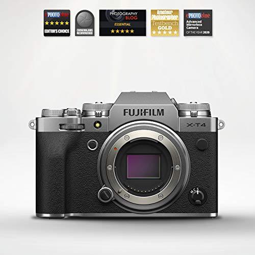 Fujifilm X-T4 Fotocamera Digitale Mirrorless 26 MP, Sensore X-Trans CMOS 4, Stabilizzatore IBIS, Filmati 4K 60p, Mirino EVF, Schermo LCD 3