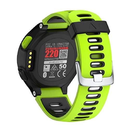 Bandas de Repuesto, Accesorios de reemplazo de Silicona Suave Correa de Banda para Reloj Garmin Forerunner 235/230/630/220/620 / 735XT GPS Reloj para Correr, Incluyendo Herramientas