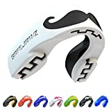 SAFEJAWZ Mouthguard Slim Fit, Adults and Junior Mouth Guard with Case for Boxing, Basketball, Lacrosse, Football, MMA, Martial Arts, Hockey and All Contact Sports (Mo, Adult (12+ Years))