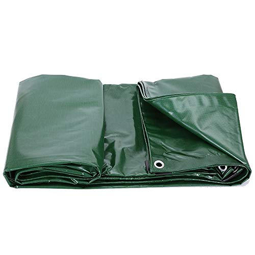 CDWJFA-Ojales Reforzados, Lona Impermeable, Protector Solar Prueba Lluvia para Coches, Toldo Aire Libre, Crepe Impermeable Recubierto PVC, Cuchillo Alambre Alta Resistencia para Raspar 500g/㎡