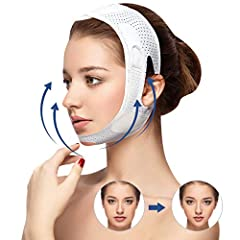 🌺[Why Choose V Face Lift]: Say goodbye to double chins, firm facial skin, improve facial and neck wrinkles, and prevent sagging cheeks. Make you look younger and more spiritual 🌺【Upgrade Version Face Lifter Strap】The face slimming band is made of pre...
